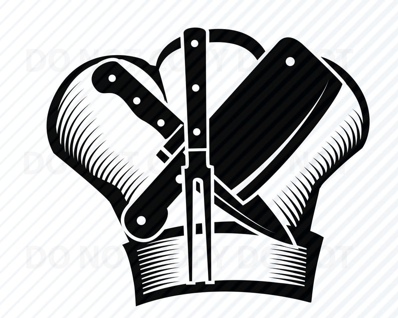 Chef Logo #3 SVG Files For Cricut.
