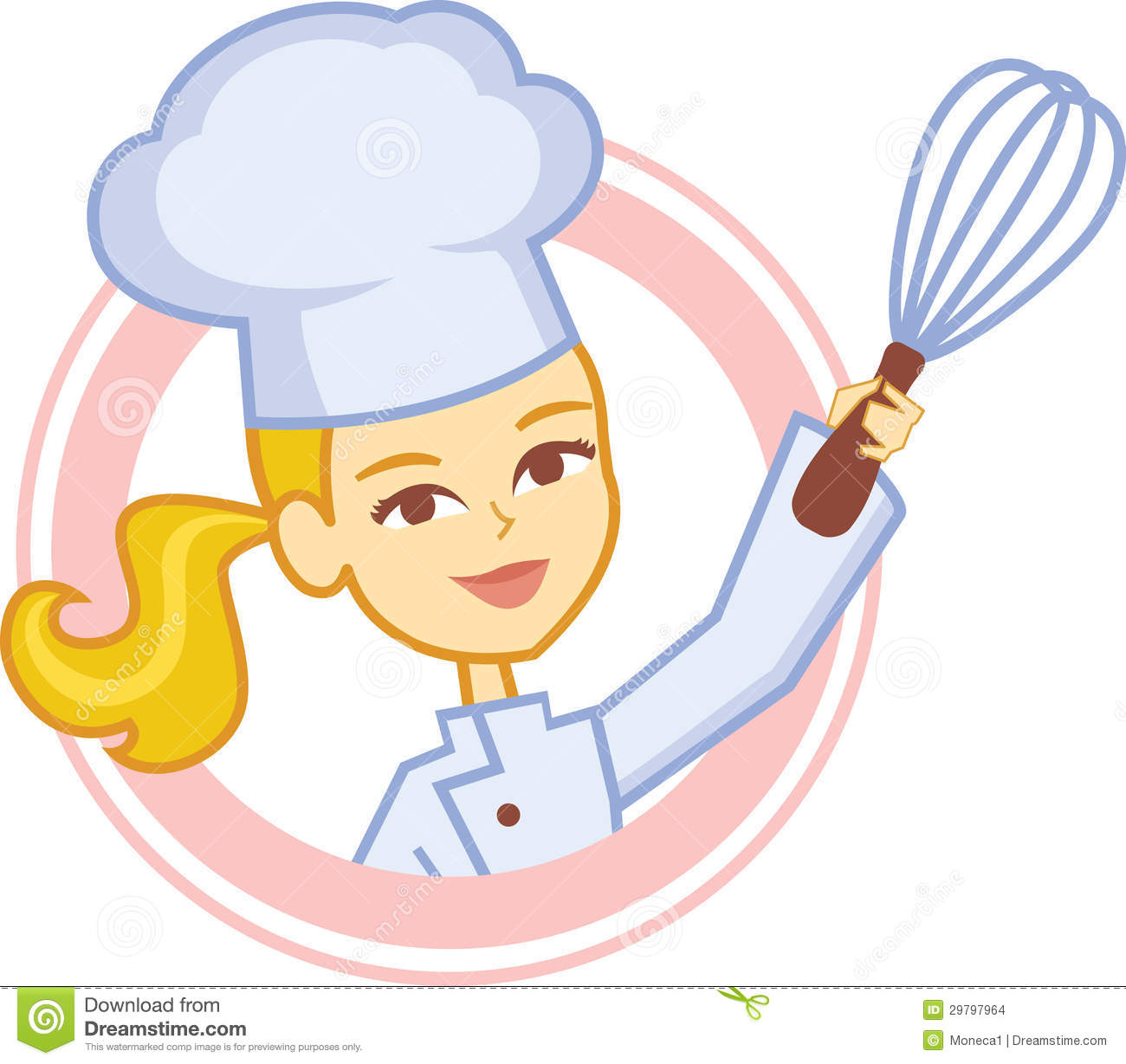 girl chef clipart.