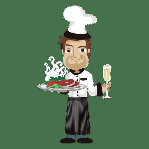 Chef cartoon profession illustration.