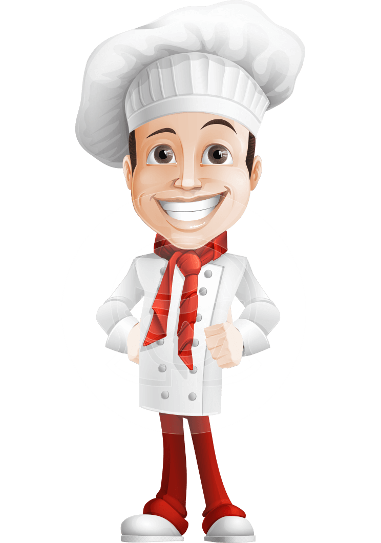 Chef Cartoon Character Drawing.