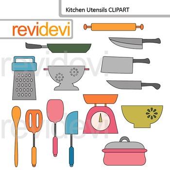 Kitchen utensils clip art.