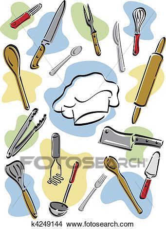 Chef's Tools Clipart.