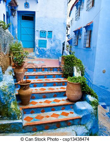 Picture of Architectural details and doorways of Morocco.