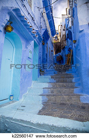 Picture of Chefchaouen town in Morocco k22560147.
