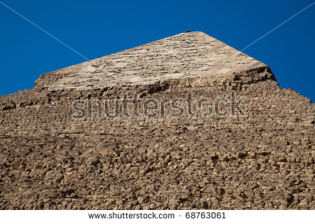 Top Chefren Pyramid Giza Original Limestone Stock Photo 68763061.