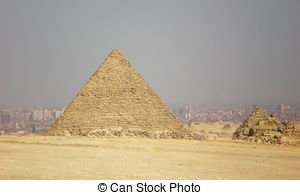 Stock Image of Pyramids Storm.