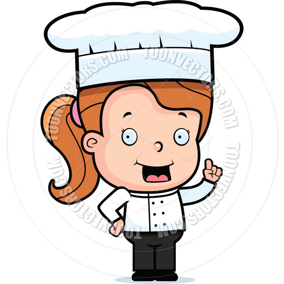 Girl chefs clipart.