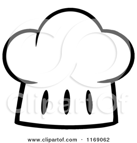 Chef Hat Clipart Black And White.
