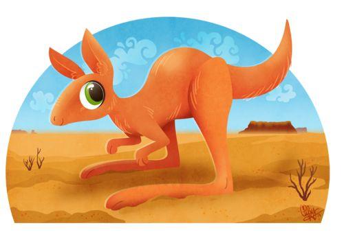 Joey Kangaroo by Chelsey Holeman #illustration #kangaroo.