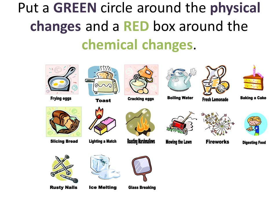 Chemical and Physical Changes.