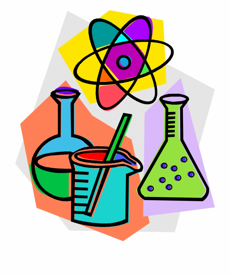 Chemistry Laboratory Chemical Reaction Clip Art.