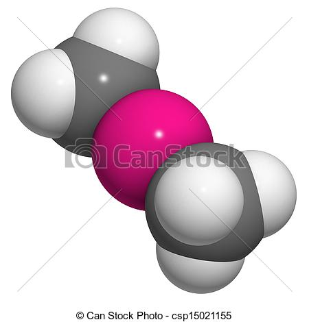 Stock Illustrations of Dimethylmercury (organomercury compound.