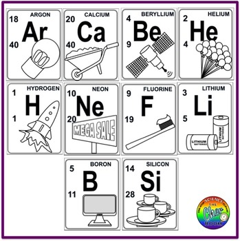 Periodic Table Clipart (Chemistry, Elements, Metals, Non.
