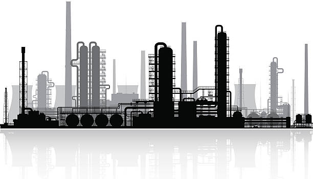 Best Chemical Plant Illustrations, Royalty.