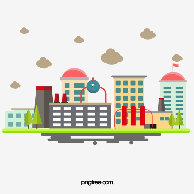 Industrial Chemical Plant, Plant Clipart, Flat, Chemistry PNG.