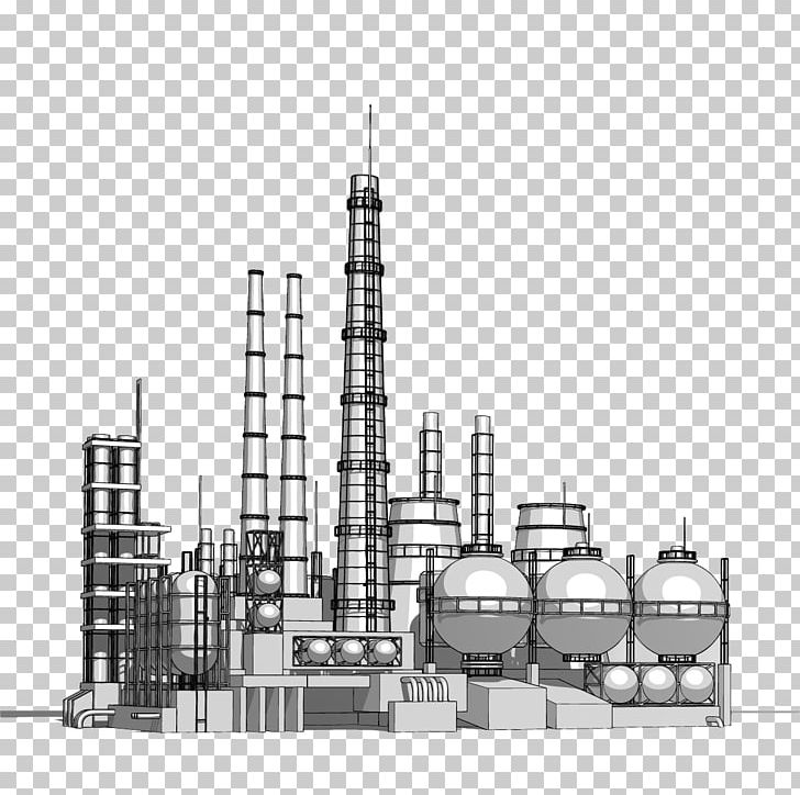 Heavy Industry Petrochemical Chemical Plant PNG, Clipart, Black And.