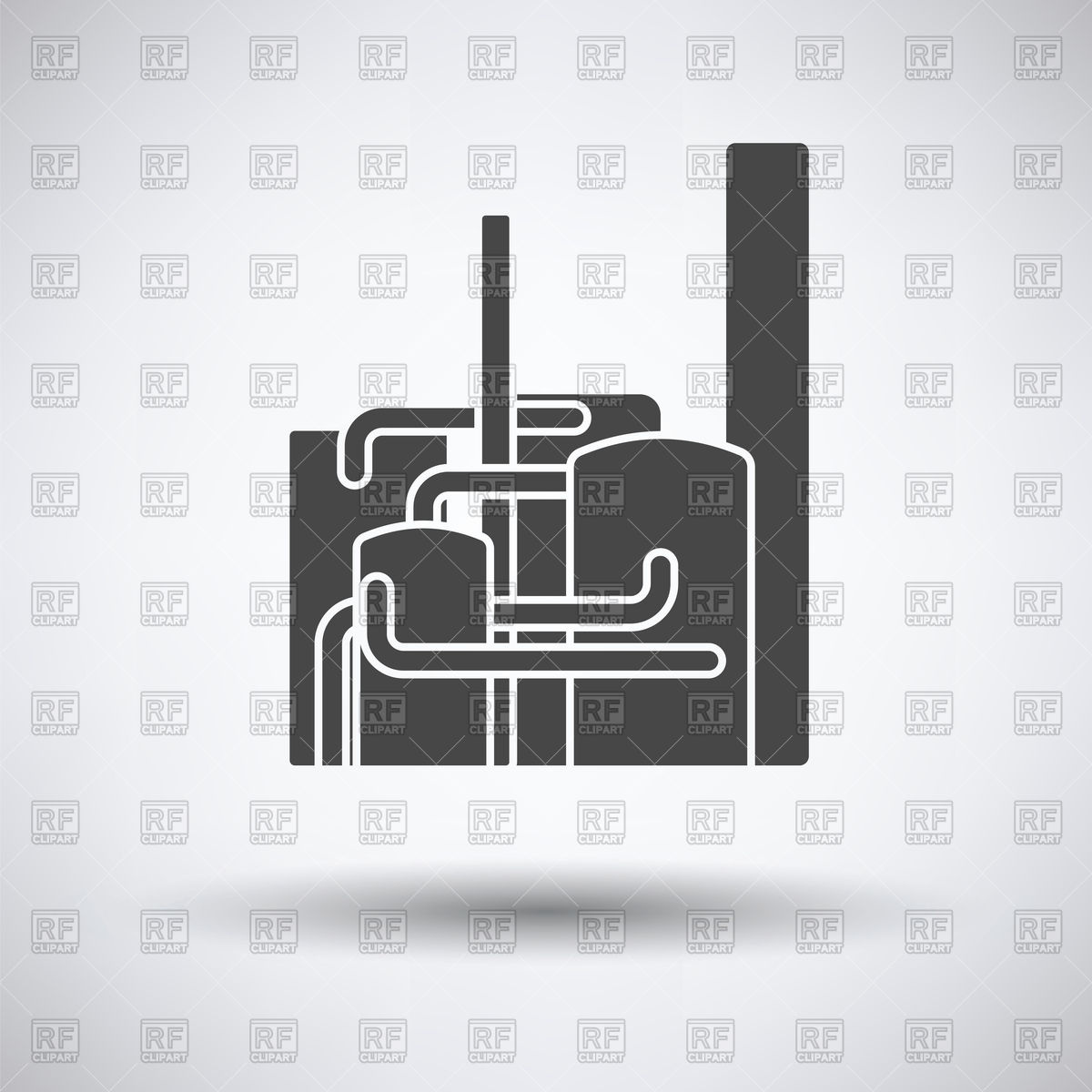 Chemical plant icon on a gray background Stock Vector Image.