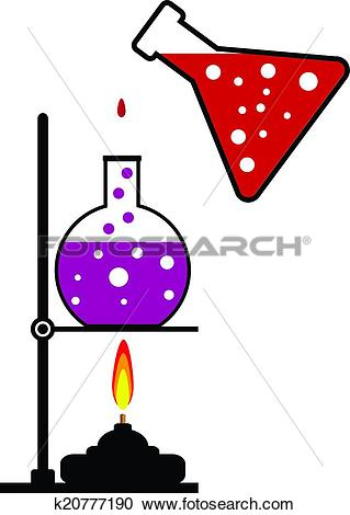 Clipart of Chemical reaction k20777190.