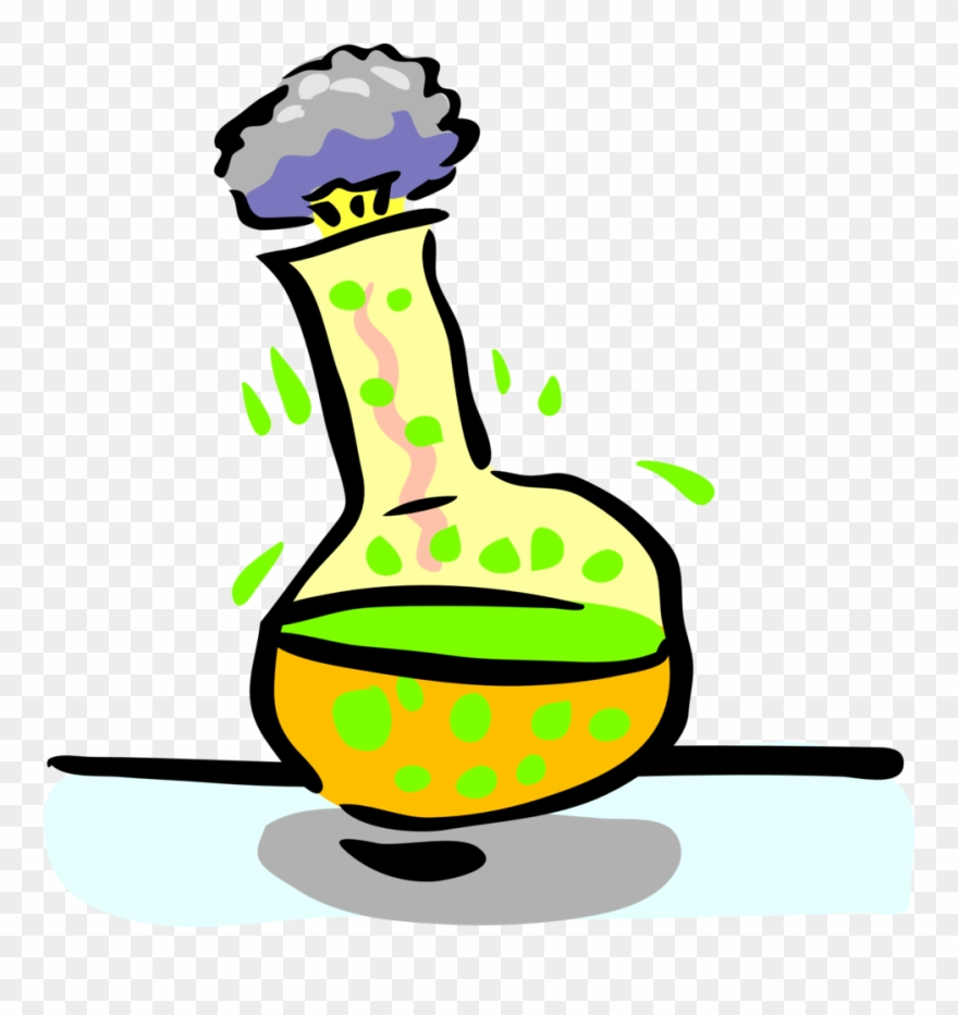 Science Clipart Chemical Reaction.