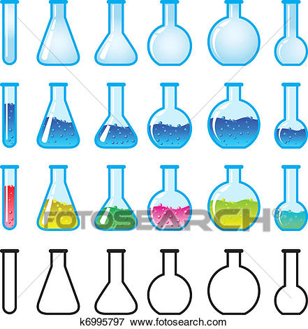 Chemical Science Equipment Clip Art.