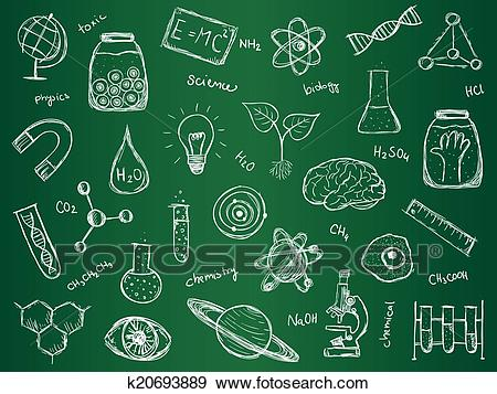 Chemistry Science Background Clip Art.