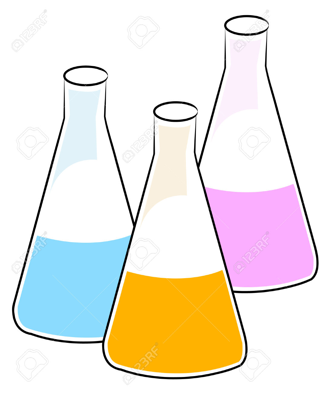 Chemical solution clipart.