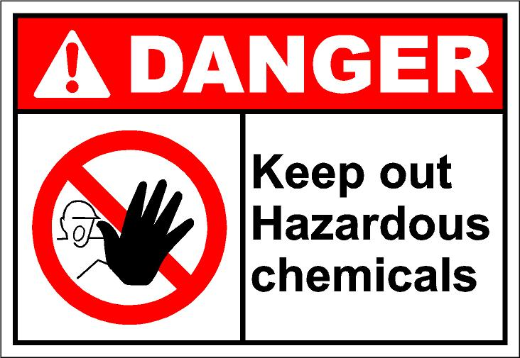 Chemical hazard clipart.