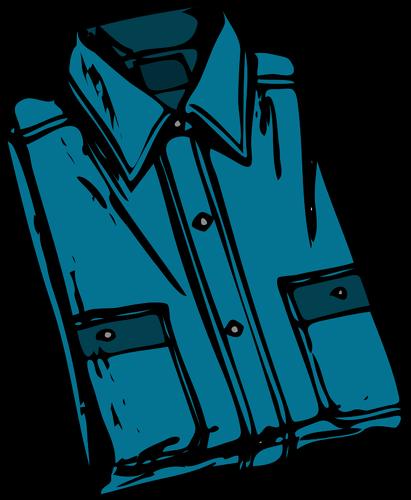 Image vectorielle chemise plissée bleue.