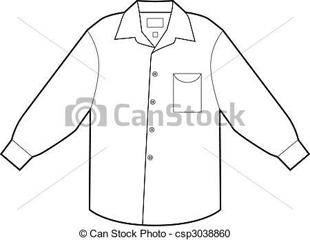 Clipart Vecteur de robe, chemise, Business.