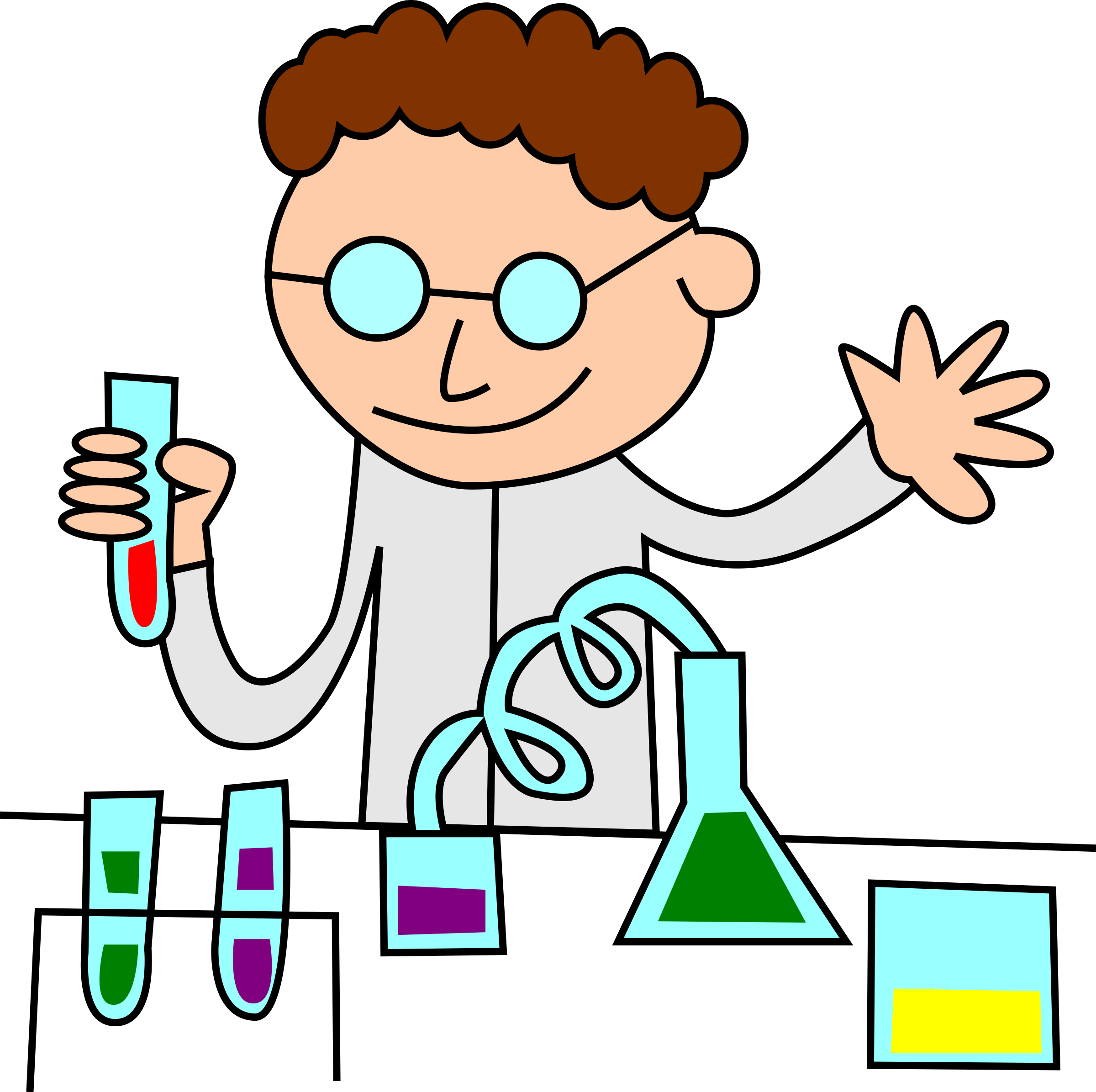 Chemist in lab vector clipart image.