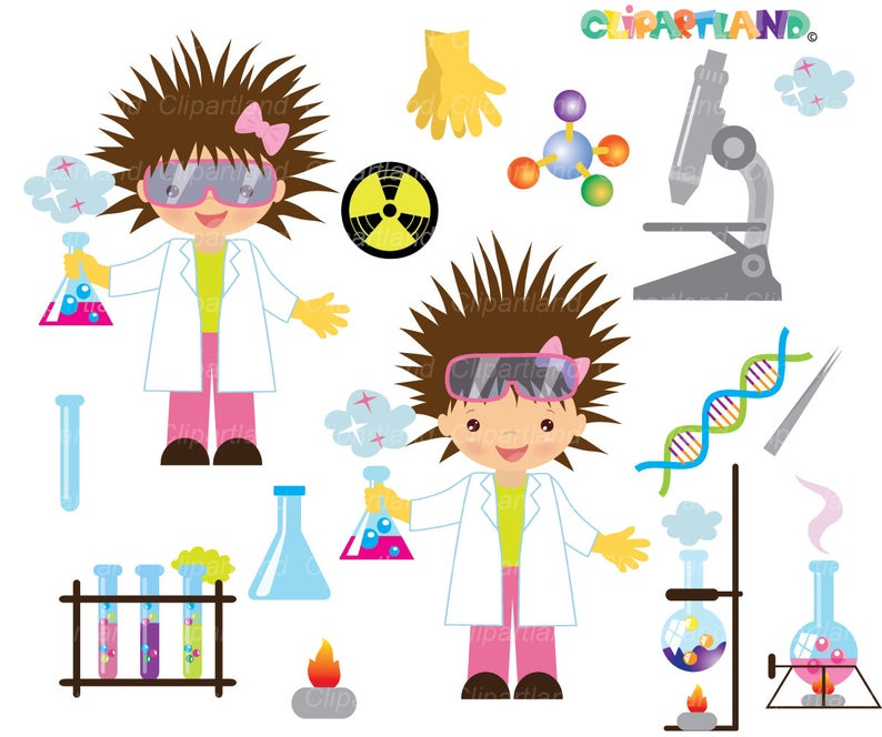 INSTANT Download. Chemist clip art. CCh_8. Personal and commercial use..