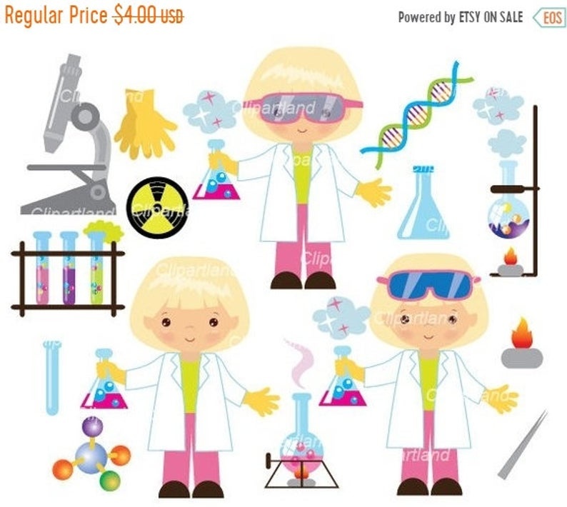 ON SALE INSTANT Download. Chemist clip art. CChem_4_Chemist_girl. Personal  and commercial use..