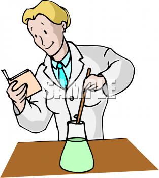 Female Chemist Clipart.