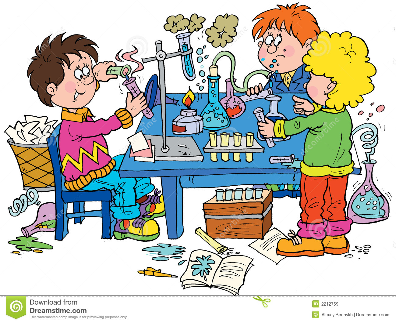 Funny Chemistry Clipart.