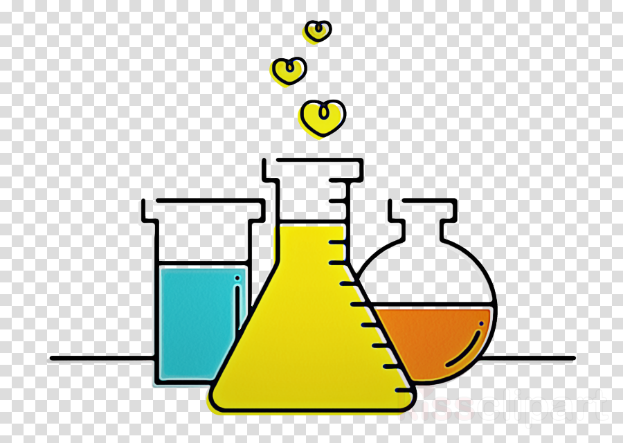 yellow line clip art water chemistry clipart.