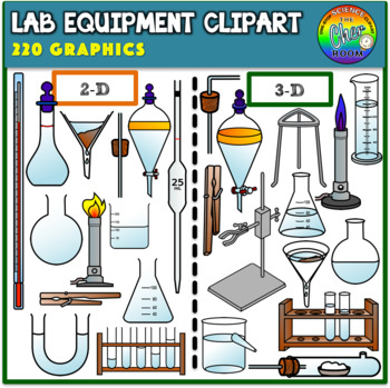 Lab Equipment Clipart (2D & 3D).