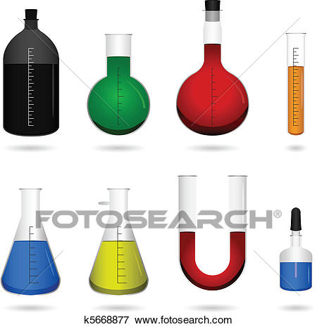Science Chemical Lab Equipment Clip Art.
