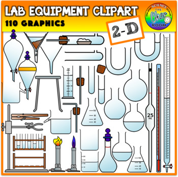 Lab Equipment Clipart (2 Dimensional).