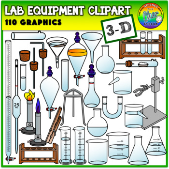 Lab Equipment Clipart (3 Dimensional).