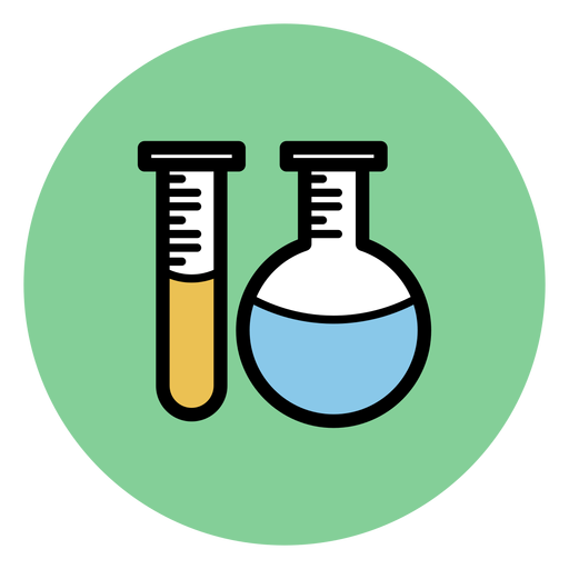 Chemistry tubes icon.