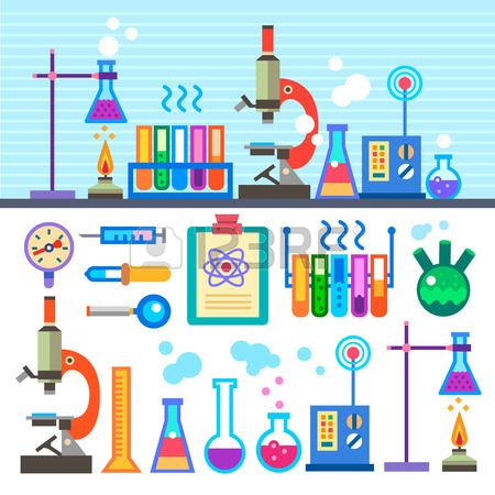 Chemical Laboratory In Flat Style Chemical Laboratory.