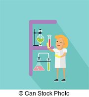 Vector Illustration of Chemistry Banner. Science Alphabet.
