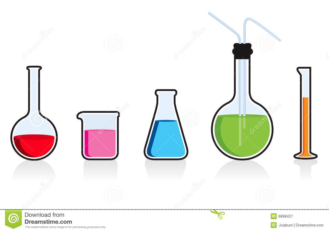 Scientific chemistry set. stock vector. Illustration of cylinder.