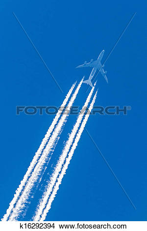 Stock Photo of Chemtrails k16292394.