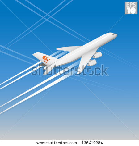 Chemtrails Stock Photos, Royalty.