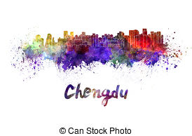 Chengdu skyline Clipart and Stock Illustrations. 8 Chengdu skyline.
