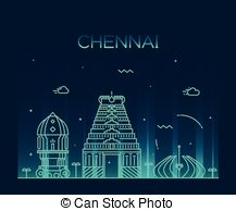 Chennai skyline Clipart and Stock Illustrations. 34 Chennai.