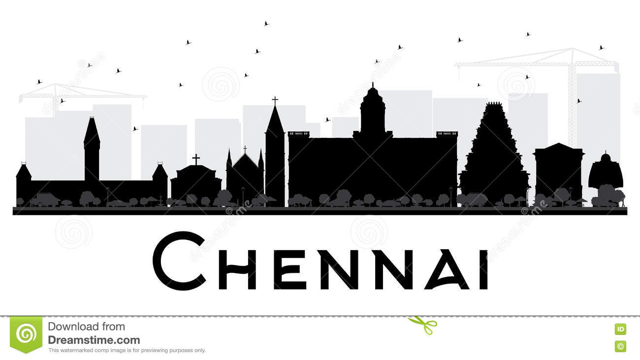 Chennai City Stock Illustrations.