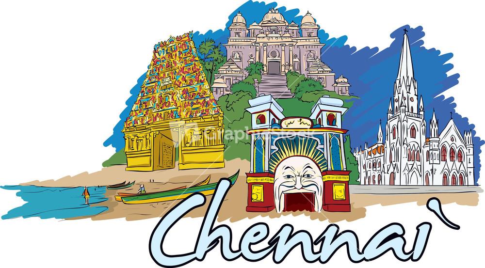 Chennai Vector Doodle.