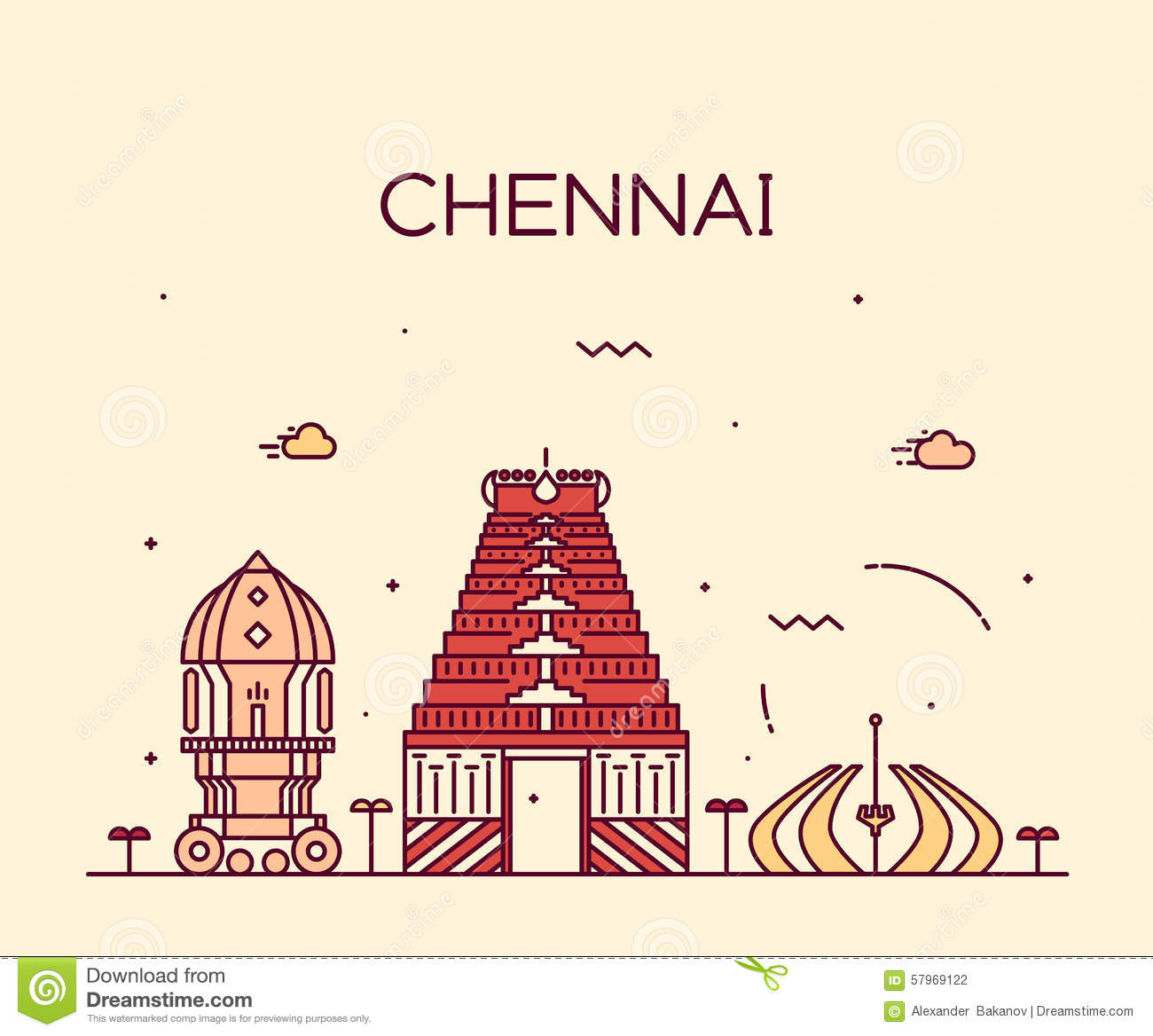 Chennai Stock Illustrations.